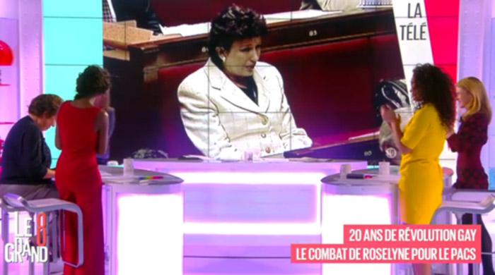 """Vidéo. Roselyne Bachelot émue en évoquant le PACS sur le plateau du """"Grand 8"""""""