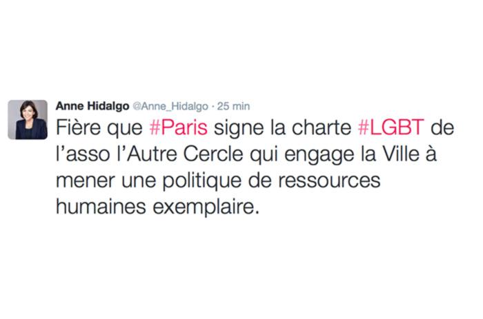 Inclusion et diversité : La Ville de Paris signe la Charte d'engagement LGBT de l'Autre Cercle