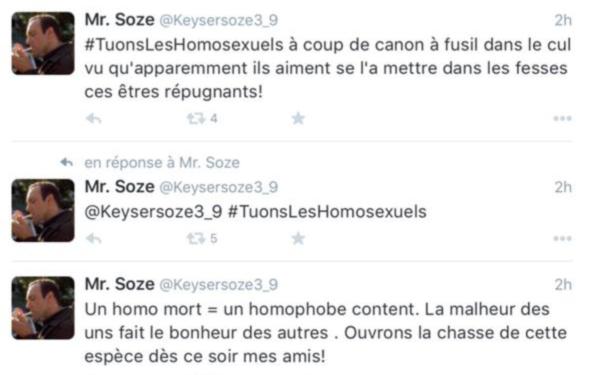 Appeler ouvertement au meurtre des homosexuels, c'est de l'homophobie ?