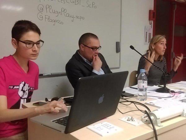 Conférence à SciencesPo sur la condition LGBTQ dans les forces de l'ordre, en partenariat avec FLAG!