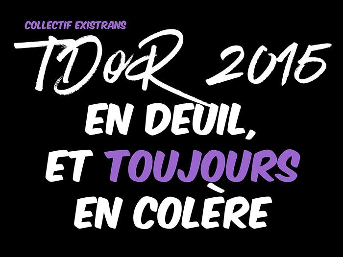 TDoR 2015 : Existrans maintient le rassemblement prévu à Paris à l'occasion de la Journée du souvenir trans