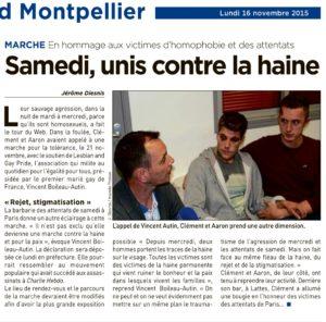marche contre la haine à Montpellier