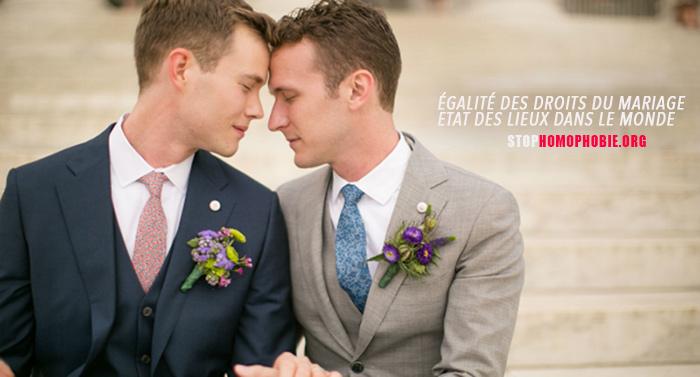 Égalité des droits du mariage : Etat des lieux dans le monde avec la date d'entrée en vigueur de la mesure