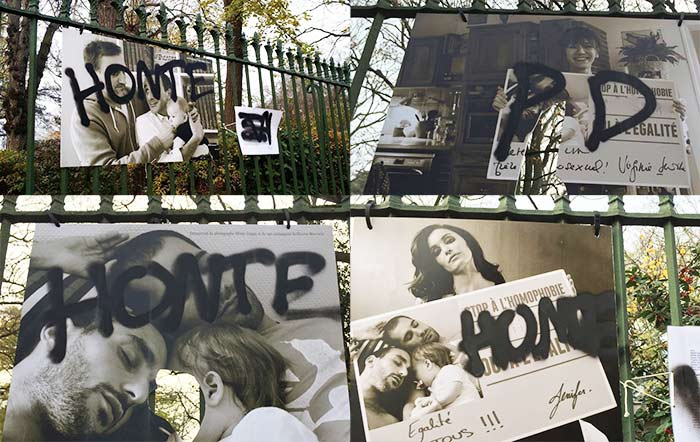 "Homophobie : l'exposition photographique d'Olivier Ciappa ""Les couples de la République"" vandalisée à Toulouse"