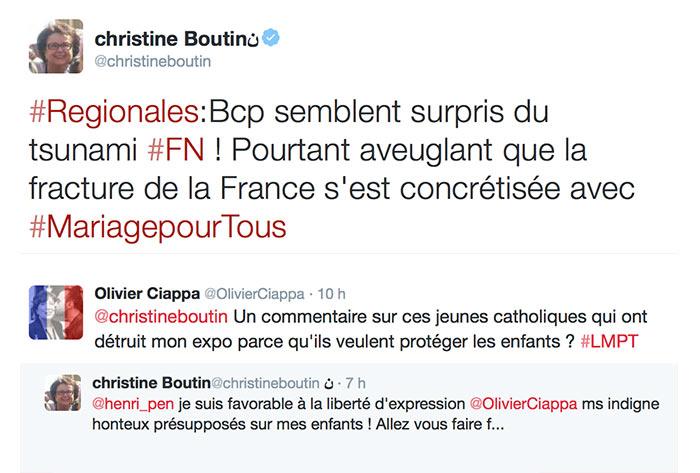 """Les """"analyses politiques"""" de Christine Boutin : """"La fracture de la France s'est concrétisée avec le mariage pour tous"""""""