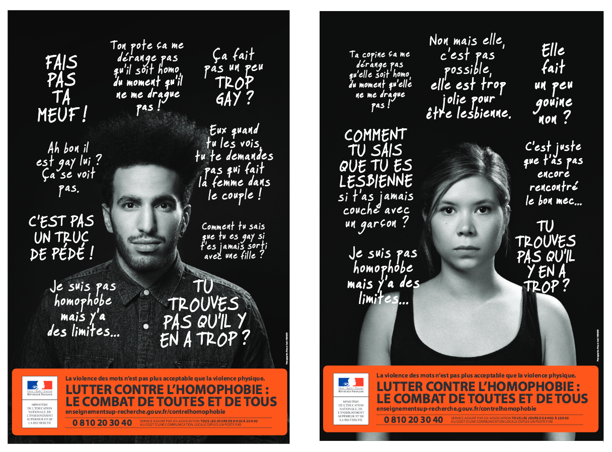 lutte contre l 39 homophobie une campagne nationale pour pr venir les violences et les. Black Bedroom Furniture Sets. Home Design Ideas