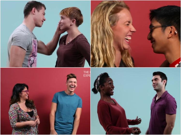 Expérience sociale : Premiers baisers, adorablement maladroits, échangés entre homos et hétéros
