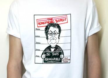 The homophobe suspect : Tee-Shirt ajusté, col rond