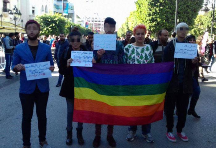 Agression de militants LGBT lors des célébrations du 5ème anniversaire de la révolution en Tunisie