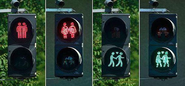 Autriche : Linz va récupérer ses feux de signalisation « friendly » à l'effigie de couples de même sexe