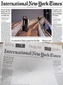 La-couverture-de-l'International-New-York-Times-avec-un-baiser-gay-censurée-au-Pakistan