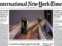 La couverture de l'International New York Times avec un baiser gay, censurée au Pakistan