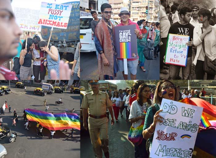 En Inde : des milliers de manifestants pour célébrer la neuvième « Pride » de Bombay, sous le signe de la dépénalisation