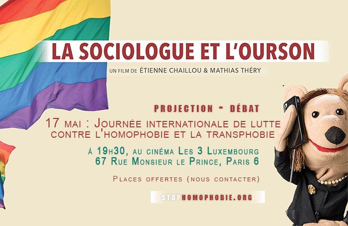 « Mariage pour tous » : Une projection-débat de « la sociologue et l'ourson » à l'occasion de l'IDAHO (VIDEO)