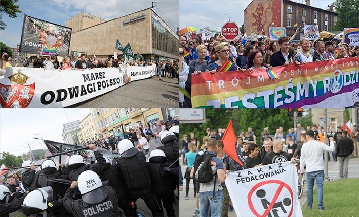 Pologne : la marche pour l'égalité de Gdansk violemment perturbée par des militants d'extrême droite