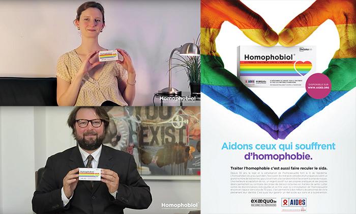 Vidéos : Ils ont testé Homophobiol©, le « premier traitement de fond contre l'homophobie »