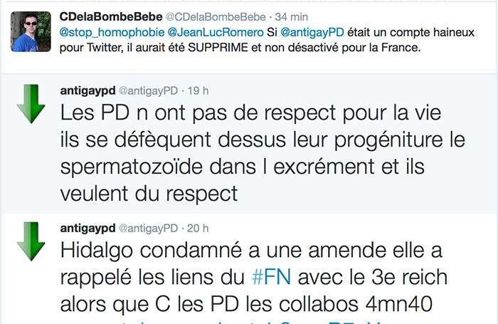 Messages homophobes : Jean-Luc Romero-Michel et Jérôme Beaugé accusent Twitter d'« inaction »