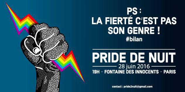 Pride de nuit 2016 : Le PS dans le collimateur, parce que « la fierté c'est pas son genre » (VIDEOS)