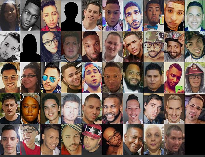 Un nom et une photo pour les 42 hommes et 7 femmes, victimes de la fusillade homophobe d'Orlando