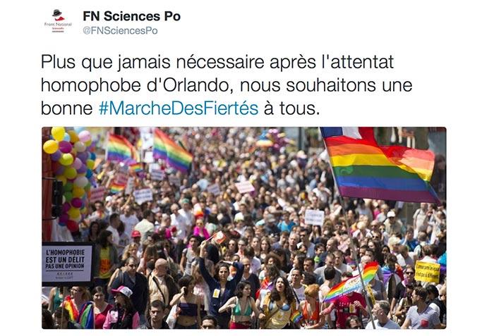 Colère au sein du FN, après le soutien de la section frontiste de Sciences Po Paris à la Marche Des Fiertés