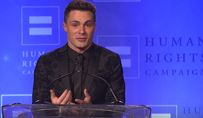 Émotion : Colton Haynes reçoit le « Visibility Award » de « Human Rights Campaign » (VIDEO)