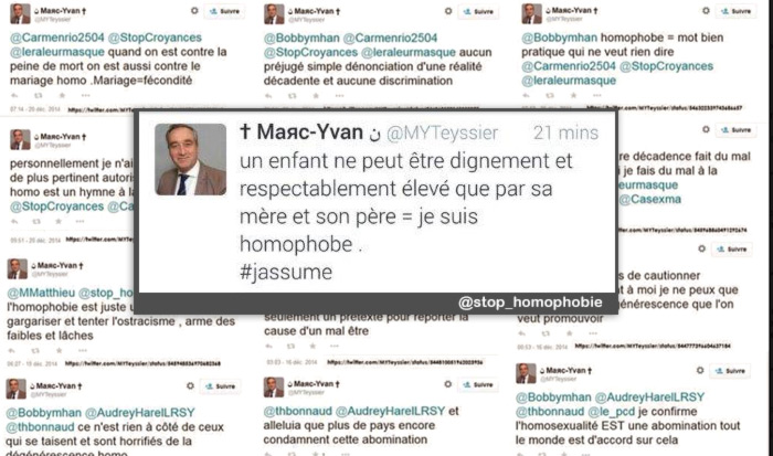 Marc-Yvan Teyssier (Parti Chrétien-Démocrate) jugé mardi 4 octobre 2016 pour ses propos homophobes