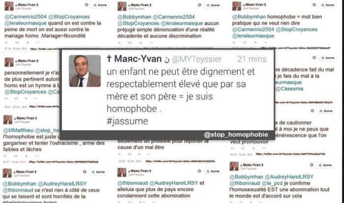Tweets homophobes : une peine de 5.000 € d'amende requise contre « Marc-Yvan Teyssier »