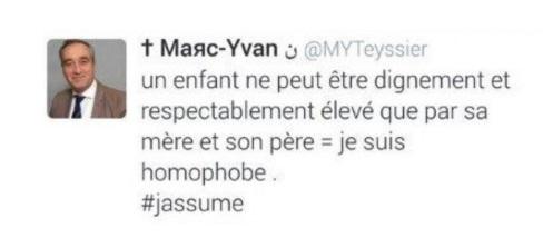 Marc-Yvan Teyssier reconnu coupable du délit de « provocation à la haine homophobe » par le tribunal correctionnel de Paris