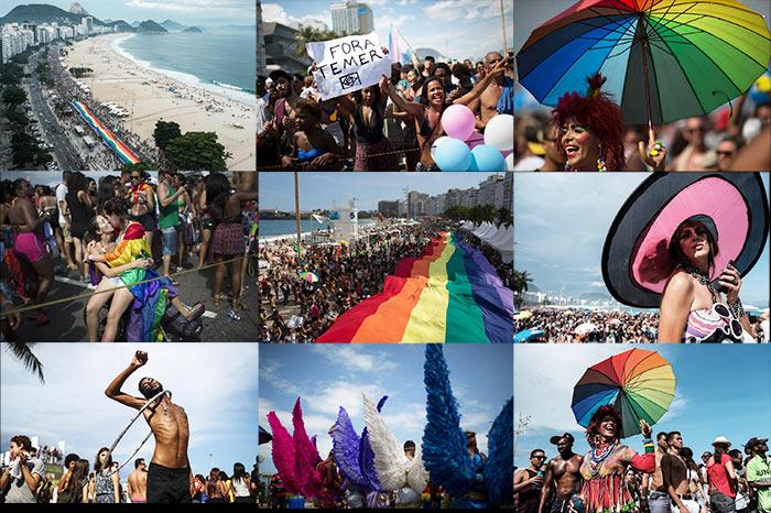 Brésil : Des dizaines de milliers de personnes pour la 21ème édition de la Pride de Rio (VIDEOS)