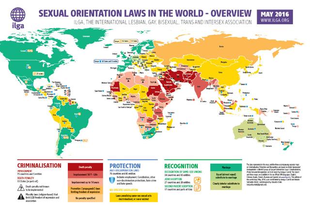 Journée mondiale contre l'homophobie : Tour d'horizon du statut des minorités sexuelles autour du globe