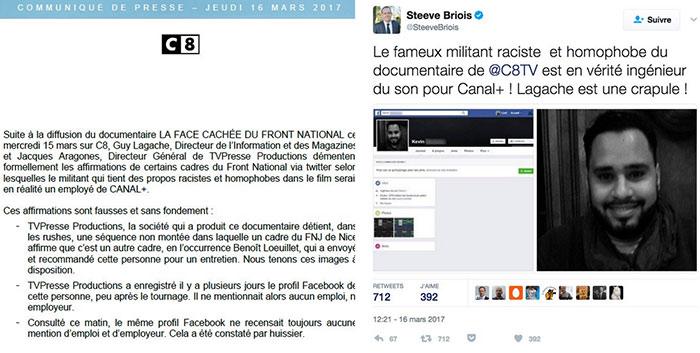 FN en Paca : Marine Le Pen accuse C8 de manipulation suite à des propos négationnistes et homophobes