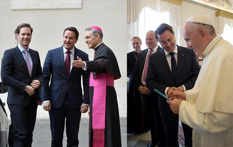 Le Premier Ministre luxembourgeois et son mari reçus en audience privée par le Pape François (VIDEO)