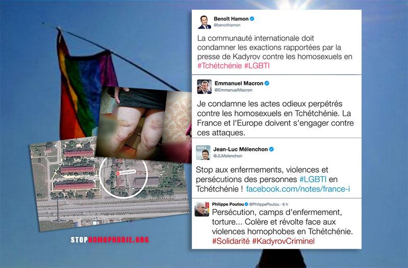 Tchétchénie : Mélenchon, Macron, Hamon et Poutou condamnent les violences et persécutions des personnes LGBTI
