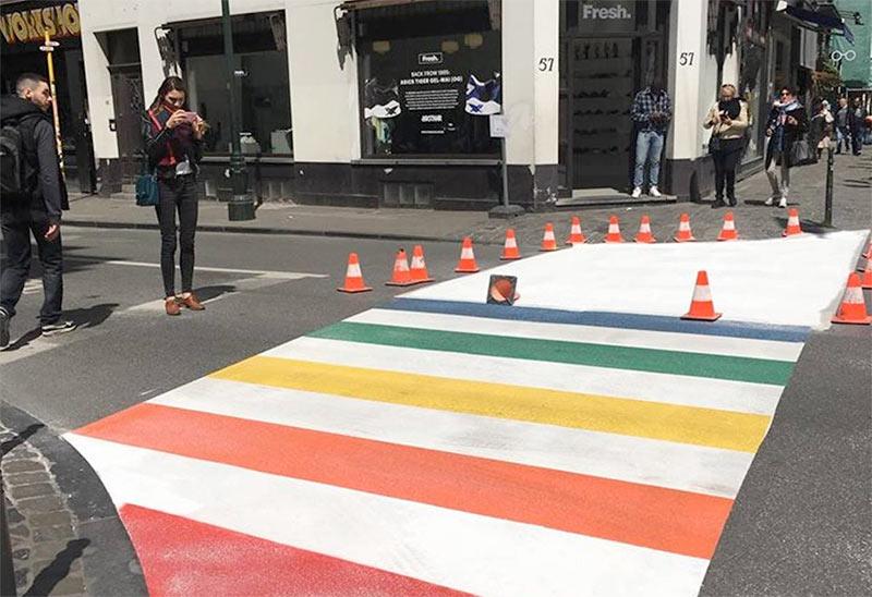 Belgian Pride : Des passages piétons arc-en-ciel au cœur de Bruxelles pour célébrer les droits LGBTIQ