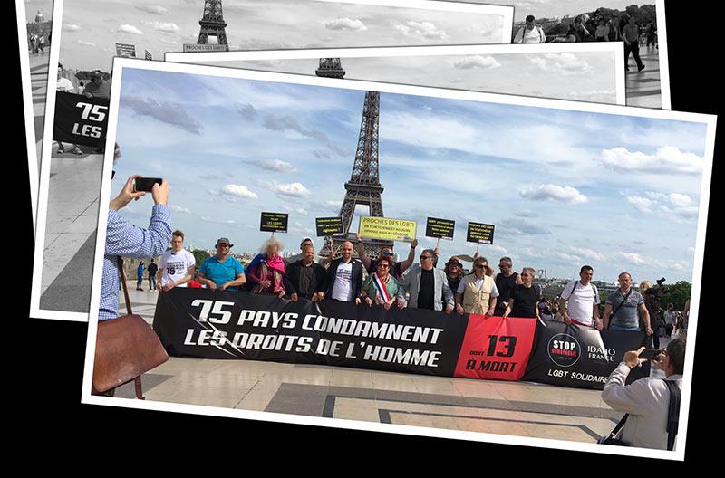 IDAHOT 2017 : Rassemblement au Trocadéro en soutien aux LGBT+ persécutés partout dans le monde
