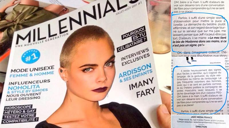 Comment reconnaître la banalisation de l'homophobie : Millennials Magazine s'offre « un bad buzz » pour son lancement