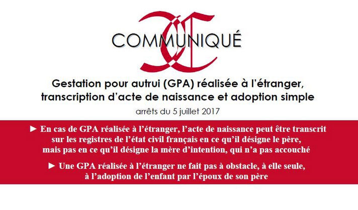 Enfants nés d'une GPA à l'étranger : la cour de Cassation valide l'adoption « simple » par le « parent d'intention »