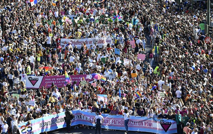 Plus d'un million de personnes à Madrid pour la cinquième édition de la « WorldPride parade » (VIDEOS)