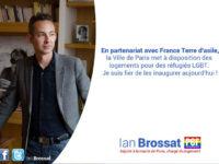Ian Brossat, adjoint (PCF) à la Maire de Paris, inaugure des logements pour accueillir des réfugiés LGBTI