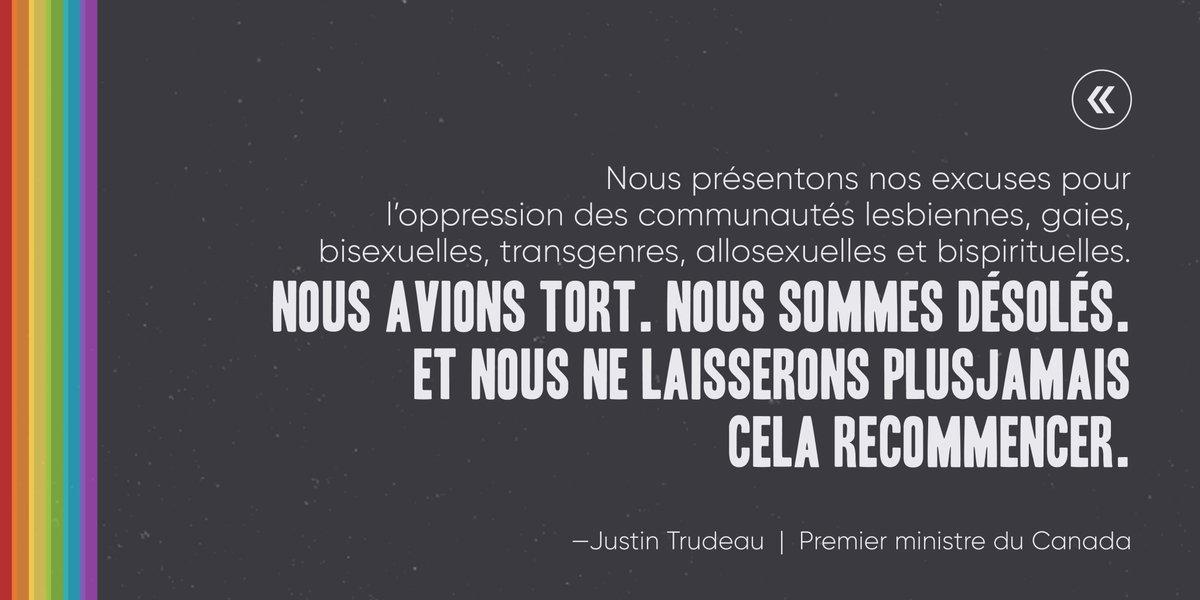 Le Canada présente des excuses pour l'oppression des LGBTQ2 : « Nous ne laisserons plus jamais cela recommencer ! »