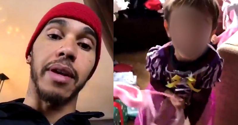 « Les garçons ne portent pas de robe de princesse ! », le Britannique Lewis Hamilton fustigeant son neveu (VIDEO)