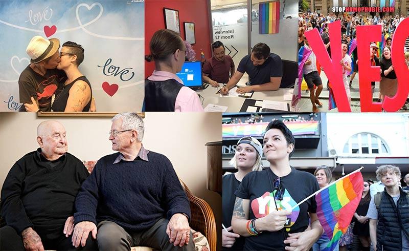 Depuis l'autorisation du mariage pour tous, les demandes s'accumulent en Australie (VIDEOS)