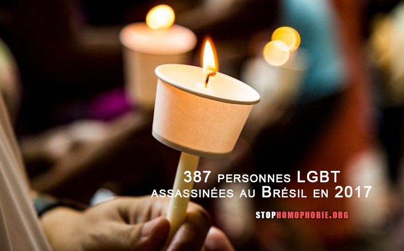 Brésil : 387 meurtres LGBTphobes en 2017, selon un rapport de l'ONG Grupo Gay de Bahia