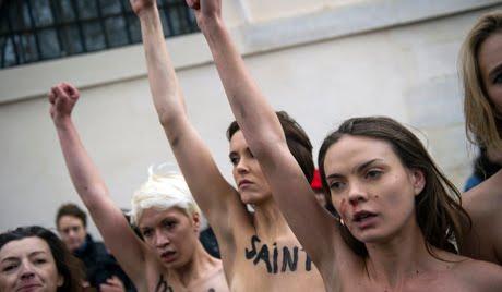 Action des Femen contre les anti-mariage pour tous : La Cour de cassation confirme la relaxe de six militantes