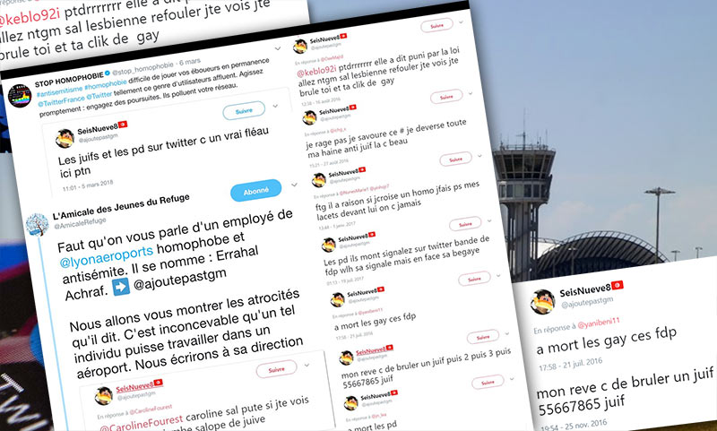 Appel à la violence homophobe : Mousse et Stop Homophobie portent plainte contre un employé de l'aéroport de Lyon
