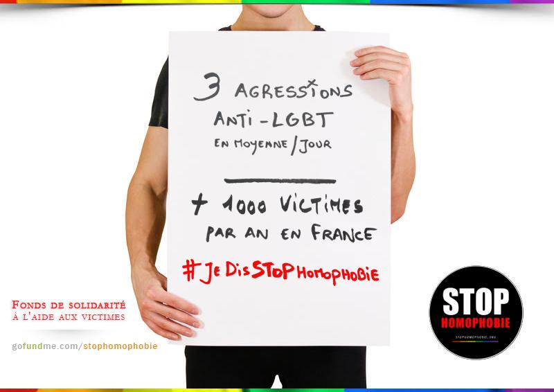 France : 1026 infractions à caractère homophobe ou transphobe enregistrés par les forces de police et de gendarmerie en 2017