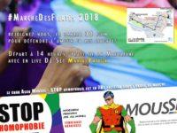 La Marche des Fiertés LGBT de Paris derrière le mot d'ordre : « Les discriminations au tapis, dans le sport comme dans nos vies ! »