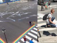 Passages piétons arc-en-ciel recouverts de tags haineux à Paris : Mousse et STOP Homophobie portent plainte