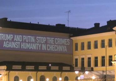 Sommet Trump-Poutine à Helsinki : Des militants d'HRC dénoncent les persécutions anti-LGBT en Tchétchénie (VIDEO)