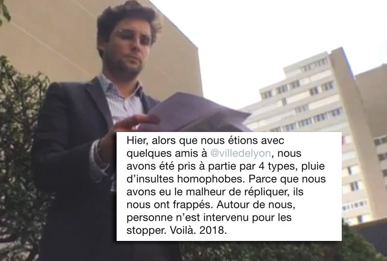 Agression homophobe à Lyon : ouverture d'une enquête interne après la non-intervention de la police (VIDEO)